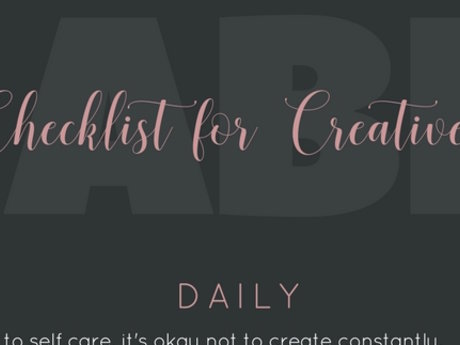 Creativity Habit Checklist