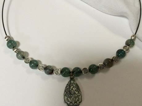 Celtic Design with Jade Necklace