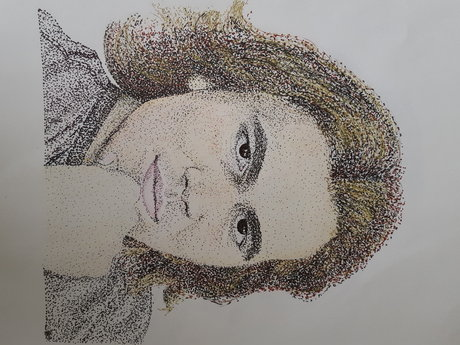Pointillism Portrait