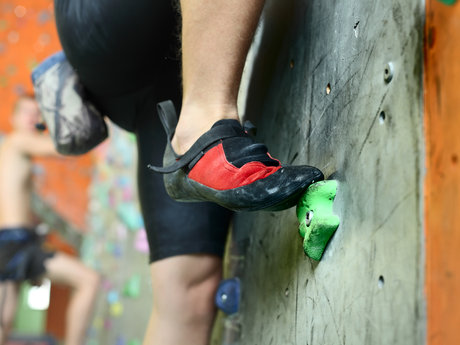 Private beginner climbing lessons.