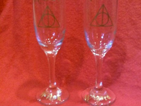 Witch & Wizard Bridal Goblets