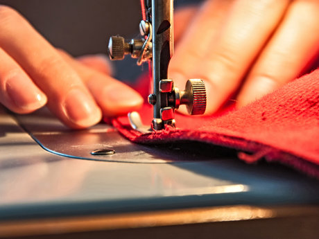 Sewing hems, and Ironing clothing
