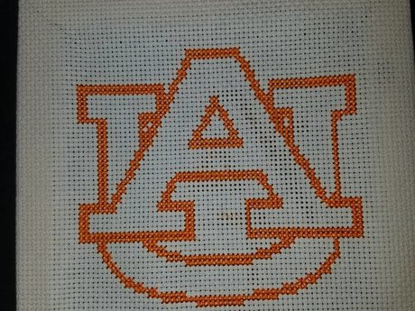 Custom sports team cross stitch