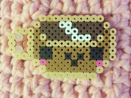 Cute Coffee Perler Bead Piece