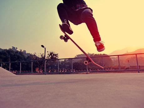Skateboard lesson