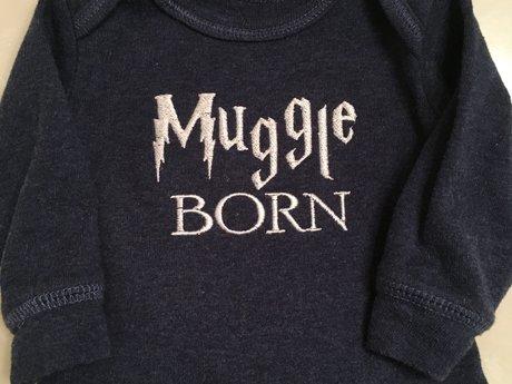 """Muggle Born"" 3 Month Onesie"