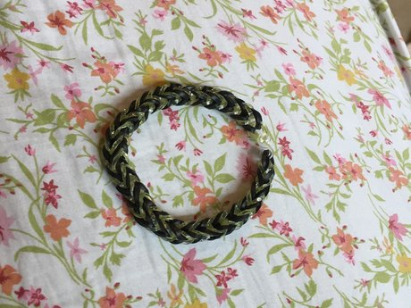 Black and Yellow Rubber Bracelet