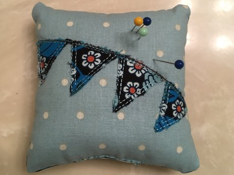 Blue Polka Dot Pin Cushion