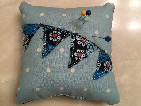 Blue Polka Dot Pin Cushion