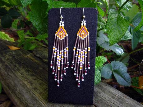 Peyote Seed Beaded Earrings