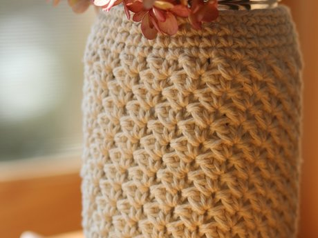 Crocheted Mason Jar Cozy