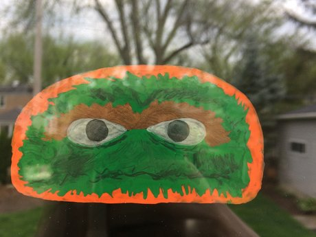 Oscar the Grouch Window Cling