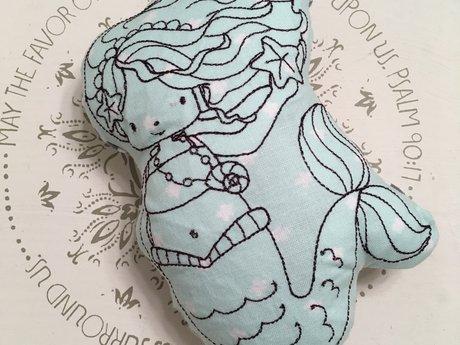 sweet mermaid rattle