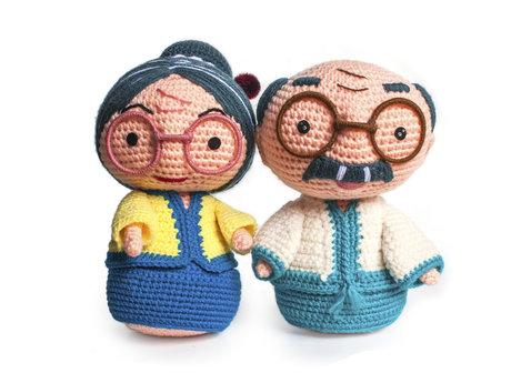 Crocheting.