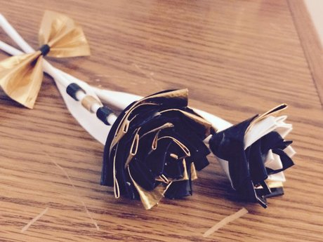 Flower crafting w/ tape!