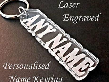 1 Acrylic Keychain w/ NAME or word