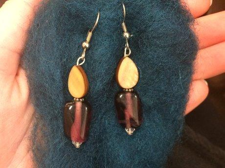 Beautiful Purple Earrings