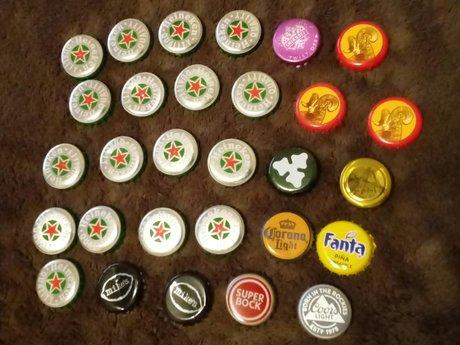 Beer Cap Keychain