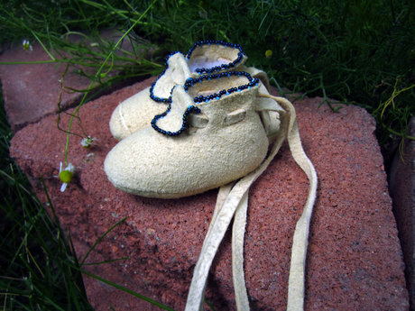 Last Pair Newborn or Premie Mocs
