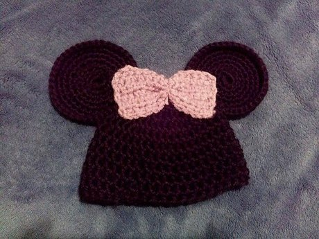 Baby Crochet Minnie Mouse Beanie