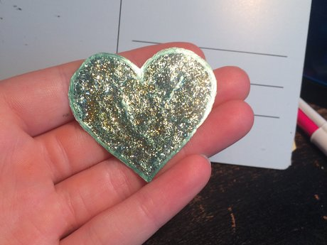 Mint colored Heart Window Cling
