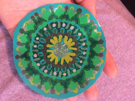 Green Mandala Window Cling