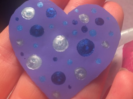 Polka Dot Window Cling Heart
