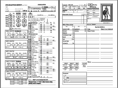 HTML/CSS Character Sheets for RPGs