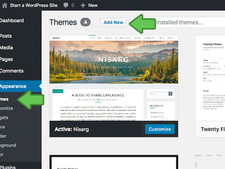 Create a custom blog on wordpress