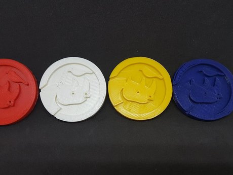 3D Printed Simbi Coin 4 color set.