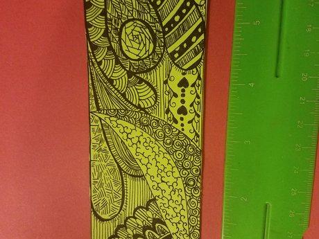 Handmade doodle bookmark