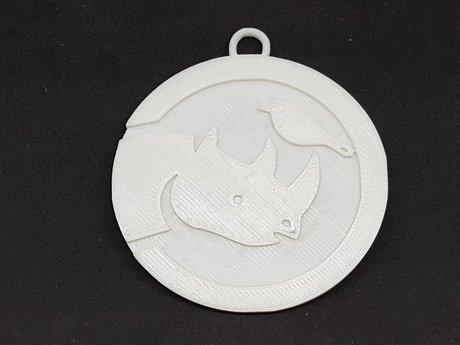 3D printed Simbi Logo Medallion.