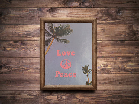 Peace love poster (digital)