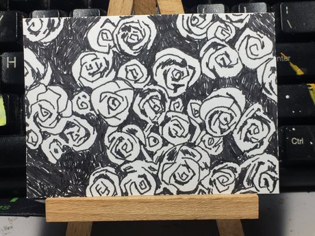 ACEO Artwork Drawing of Scullents