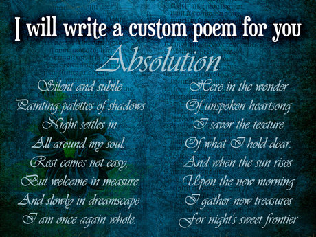 Custom Poem, Your Subject