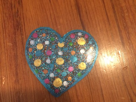 Heart Window cling