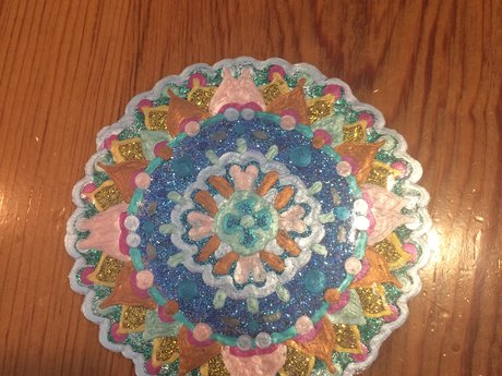 Iridescent Mandala Window cling