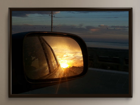 Sunsets in the mirror (digital)