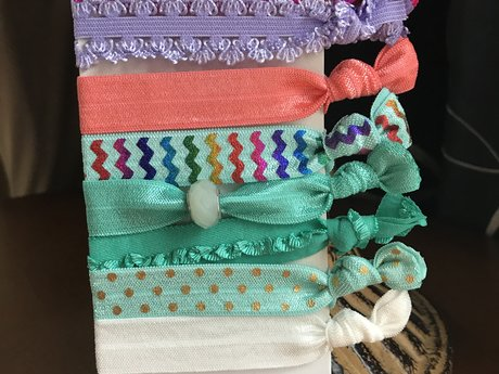 8 boutique handmade hair ties