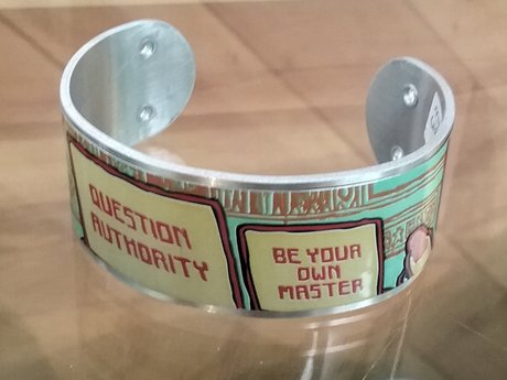 UPcycled aluminum can cuff bracelet