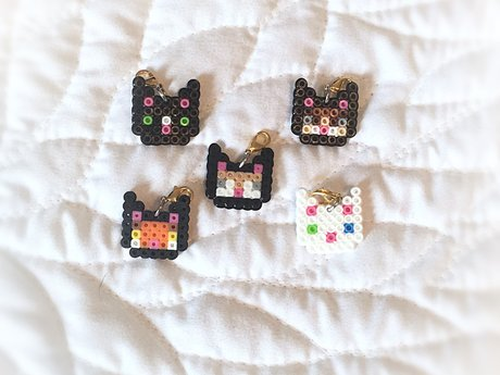 Mini Perler Bead Charm of Your Cat