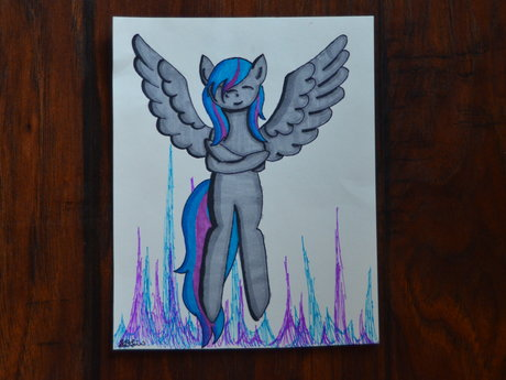 """""""Embrace yourself"""" pony drawing"""