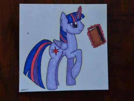 Twilight sparkle and book