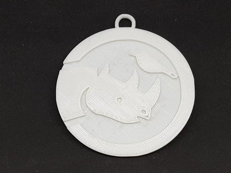 3D printed Simbi Medallion.