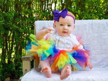 Rainbow Baby newborn/1st bday tutu