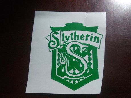 Slytherin House Crest vinyl decal