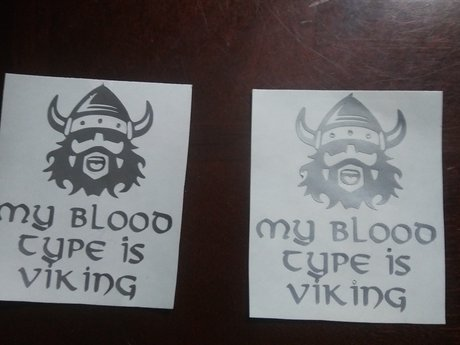 My Blood Type is Viking vinyl decal
