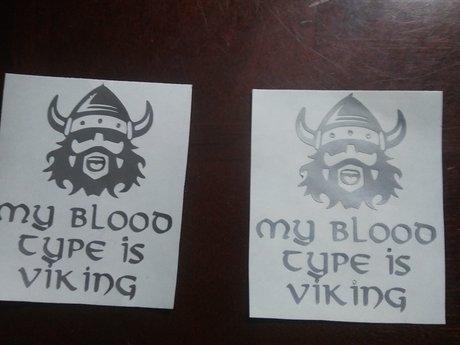 My Blood Type is Viking vinyl decal