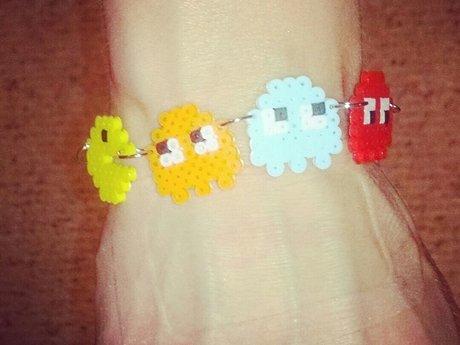 Pacman mini bead bracelet