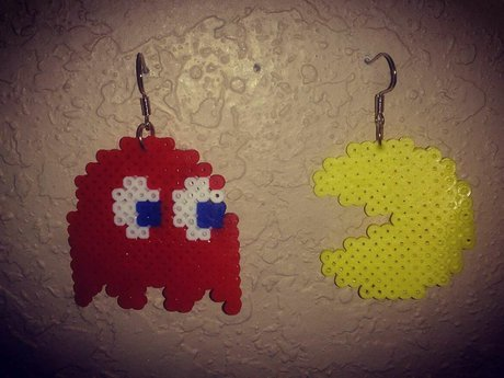 Pacman mini bead earrings